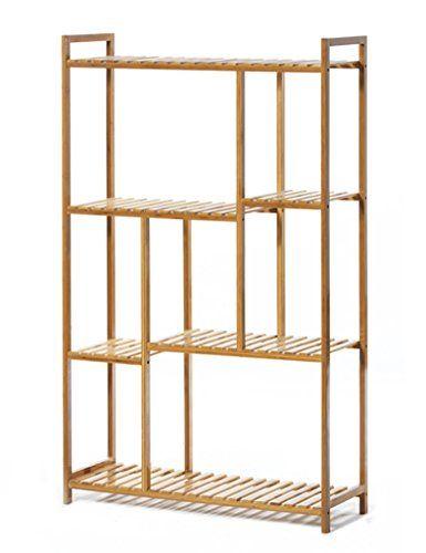 Bookshelf Bookcase Simple Shelf Solid Wood Multi-layer Floor Type