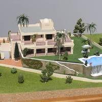 maqueta chalet villas del virrey. Escala 1/100. vista 1