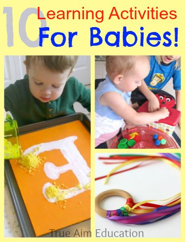 10 Learning Activities for Babies including DIY toys, learning games and more!