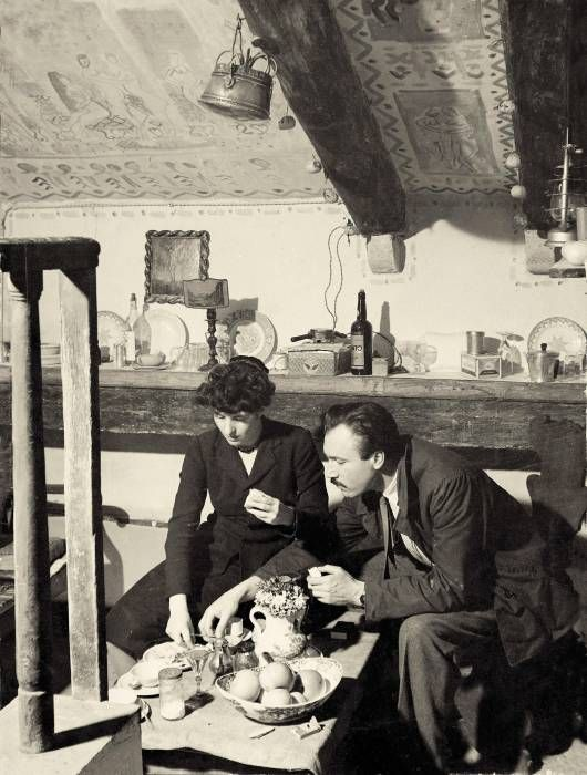 Zoran Music e Ida Cadorin Barbarigo fotografati nel 1947 a Palazzo Pisani di Venezia