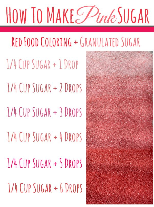 Learn How To Make Pink Sugar for Valentine's Day & Baby Showers
