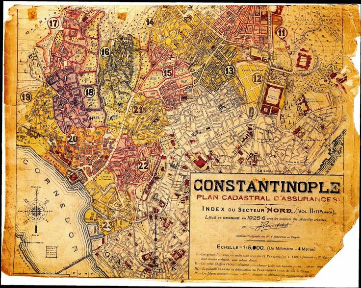 1925-26 tarihli Pervititch Haritası (Taksim)