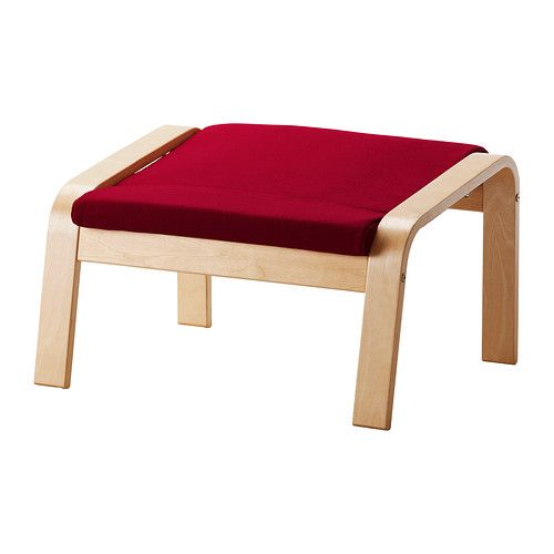 POÄNG Footstool IKEA The frame is made of layer-glued bent birch which is a very strong and durable material.
