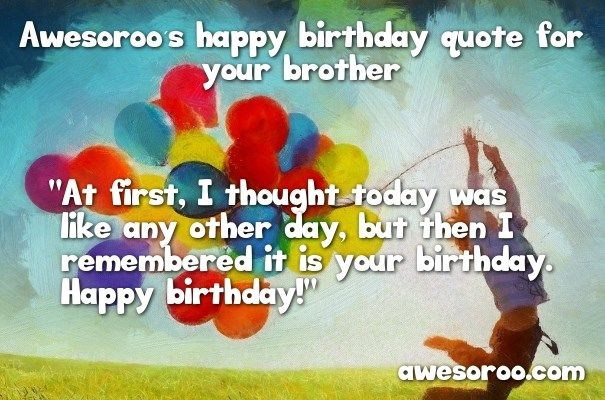 balloons with birthday wish for brother