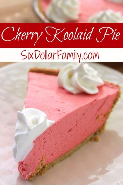 Don't let summer pass you by without tasting this Cherry Koolaid Pie recipe! Smooth, creamy and everything warm weather!