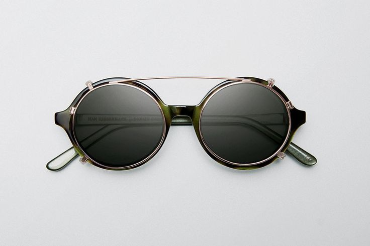 Eyewear by Han Kjøbenhavn. Handmade from Italian acetate and Carl Zeiss lenses.