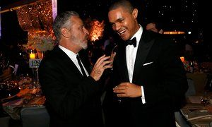 Following Jon Stewart would have been a challenge for anyone, let alone an unknown South African comedian. But Daily Show host Trevor Noah's life is all about achieving the impossible. Trevor Noah with his Daily Show predecessor Jon Stewart at the 2015 Emmy awards governors ball.
