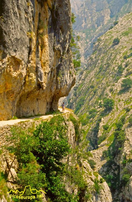 La ruta del Cares cerca ya de Cain