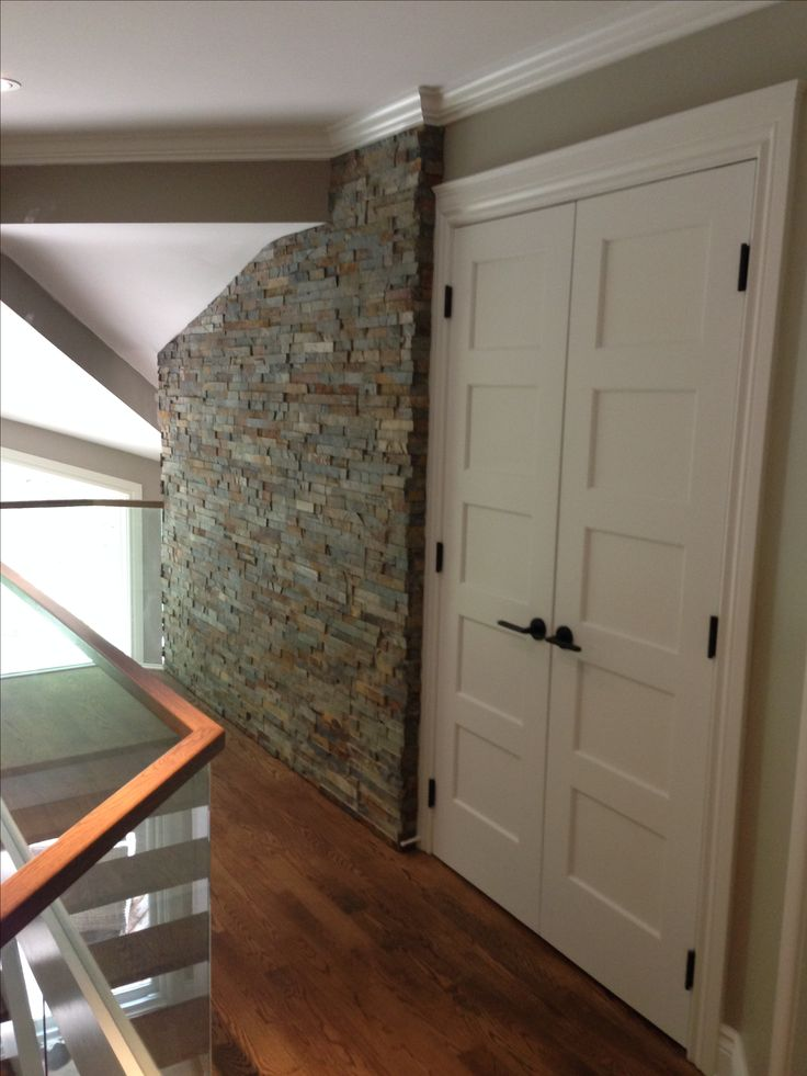 Accent stone wall