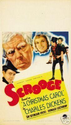 Scrooge Movie Poster Charles Dickens Rare Hot Vintage