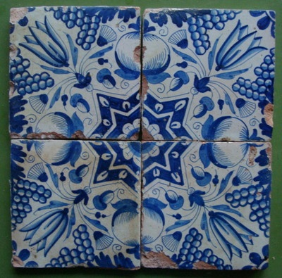 Dutch tile 17th century Delft