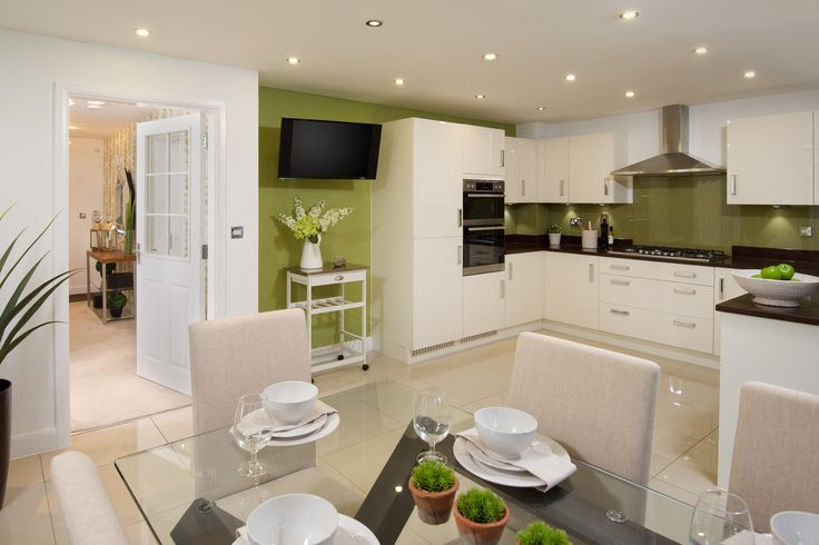 This high gloss white kitchen is perfect for family homes for Perfect kitchen harrogate