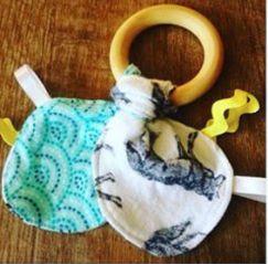 Leader Sews : Bibbity Boppity Bunny Ear Teething Ring (Full Tuto...