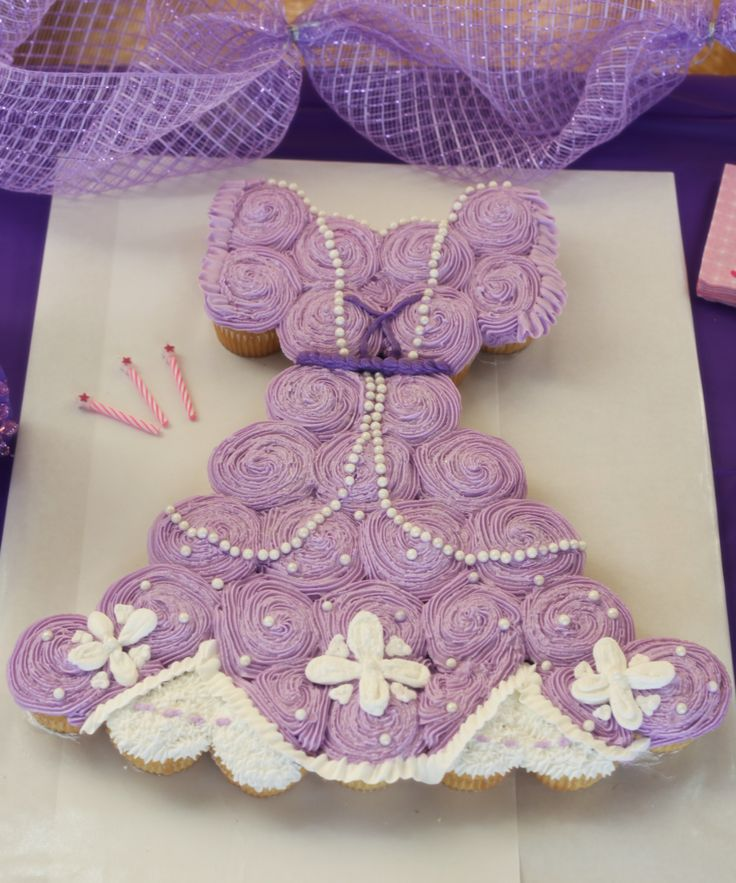 17 Best Images About Princess Dress Cupcake Cakes On
