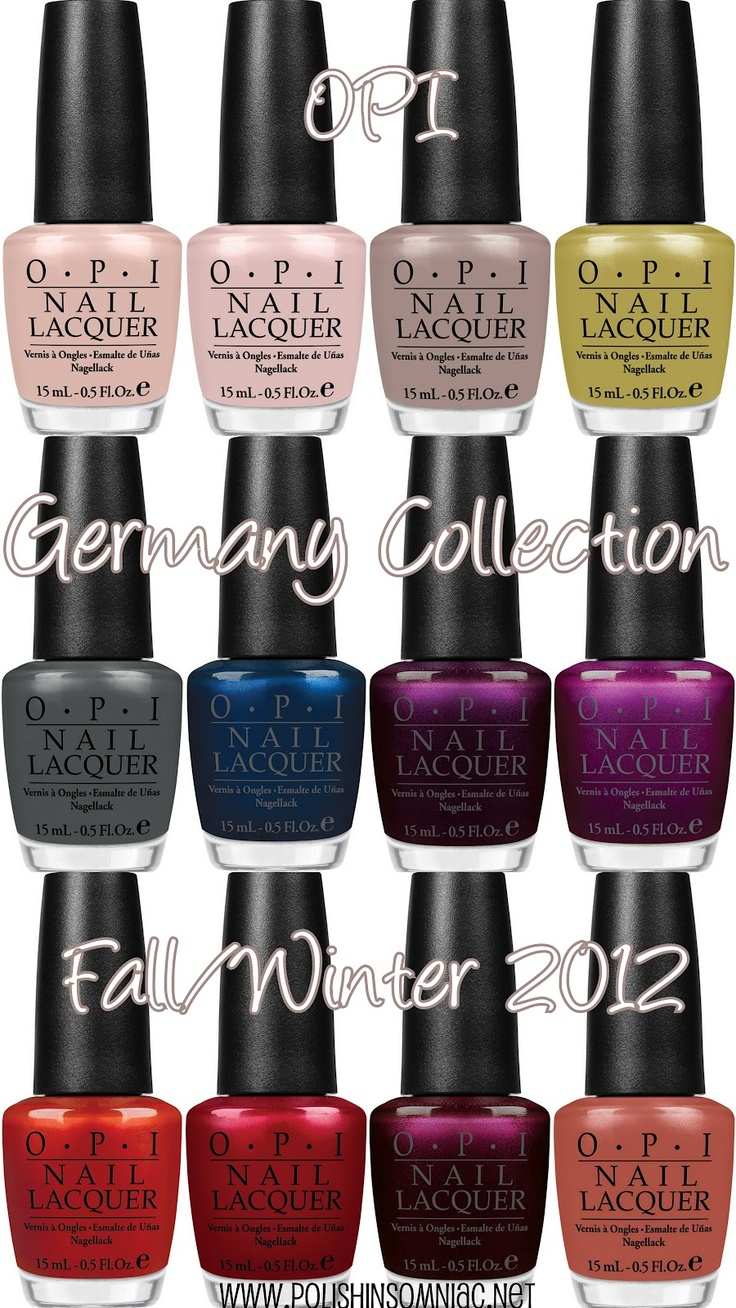 Opi In The Spot Light Pink: Coming Soon: OPI Germany Collection For Fall/Winter 2012