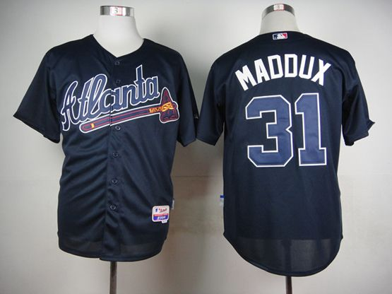 MLB ATLANTA BRAVES #31 MADDUX BLUE THROWBACKS JERSEY FJ