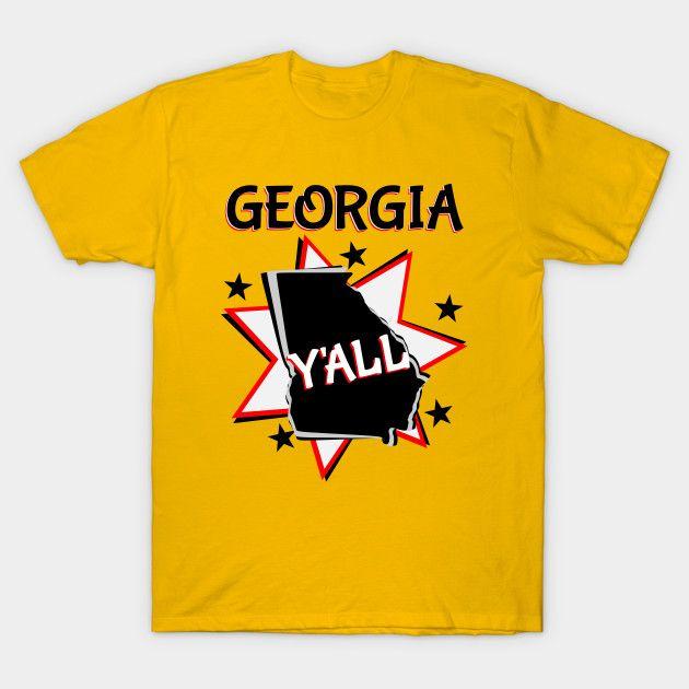 georgia state pride y'all starburst t-shirt
