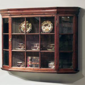 Antique Wall Mounted Corner Display Cabinet