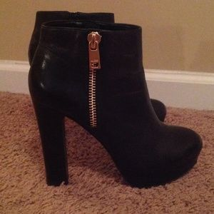 ALDO Boots - Black leather booties
