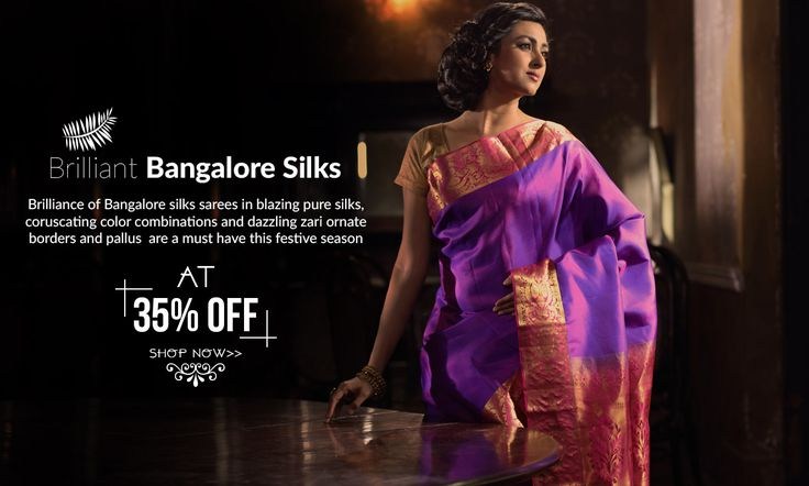 Festive Special Bangalore Silk Sarees at 35% OFF!