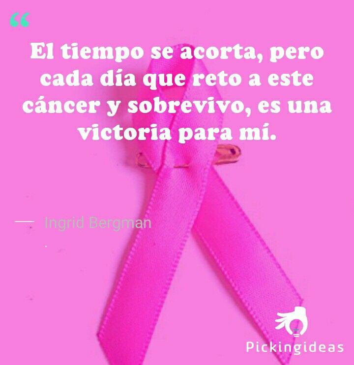 Idea para hoy by Ingrid Bergman.Nuestro apoyo a todas esas mujeres luchadoras y a @aecc_es que las acompaña en la lucha #sumatealretorosa