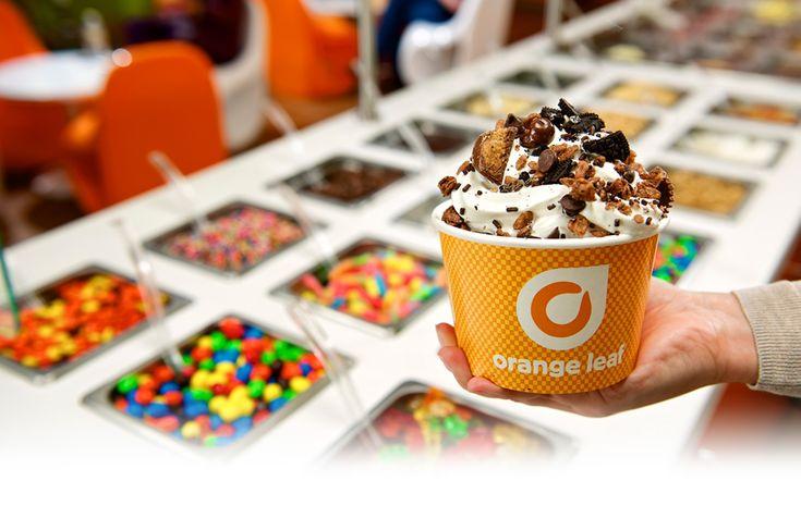 Frozen Yogurt Stores | America's Best Frozen Yogurt from Orange Leaf | Wish we had something like this in Holland....