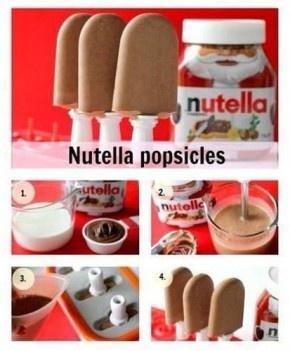 Zo maak je nutella ijsjes!
