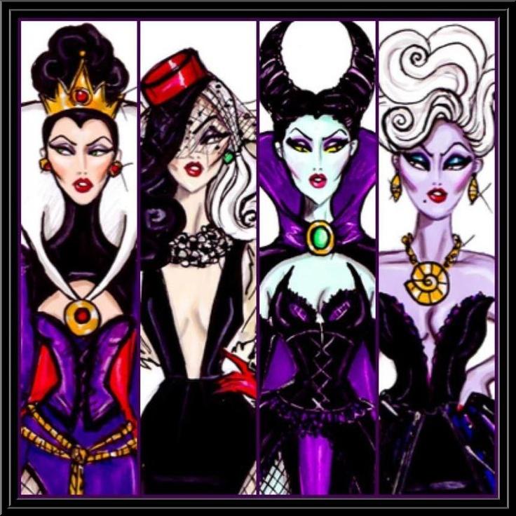 Disney villains...Looks like a line up.