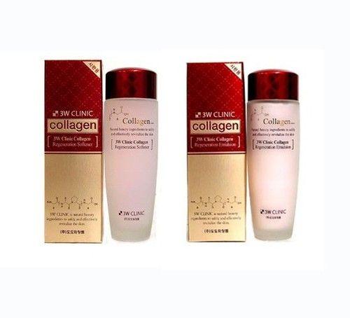 3w Clinic Collagen Regeneration Toner & Emulsion 150ml x 2PCS Korean Cosmetics