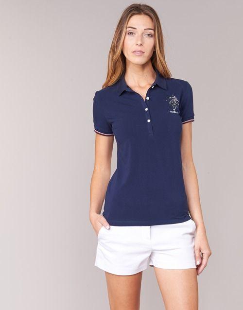 U.S Polo Assn. LADY PLAYER Marine pas cher prix Polo Femme Spartoo 67.25 €