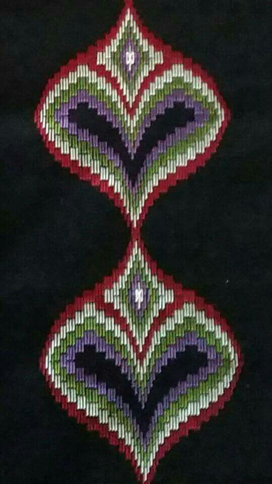 bargello needlepoint medallions