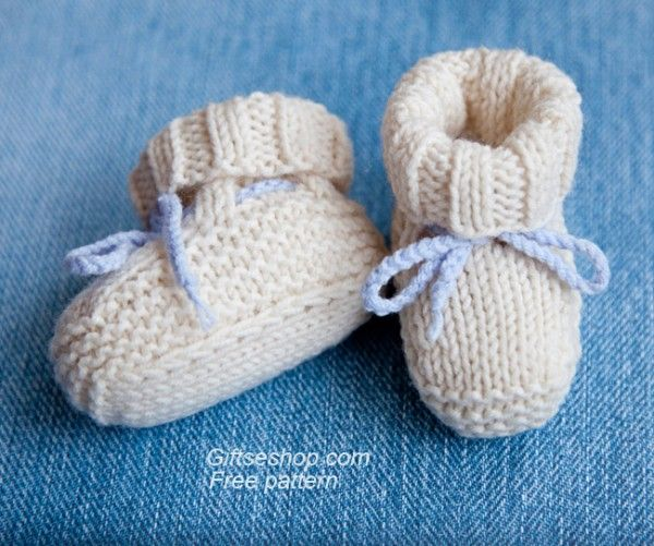Free Knitting Pattern Baby Booties Uggs, Knitted with Straight Needles