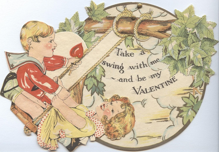 1931 -- 10 V 43 a and b: Valentine (on page 61 of The Very Best from Hallmark: Greeting Cards Through the Years by Ellen Stern)