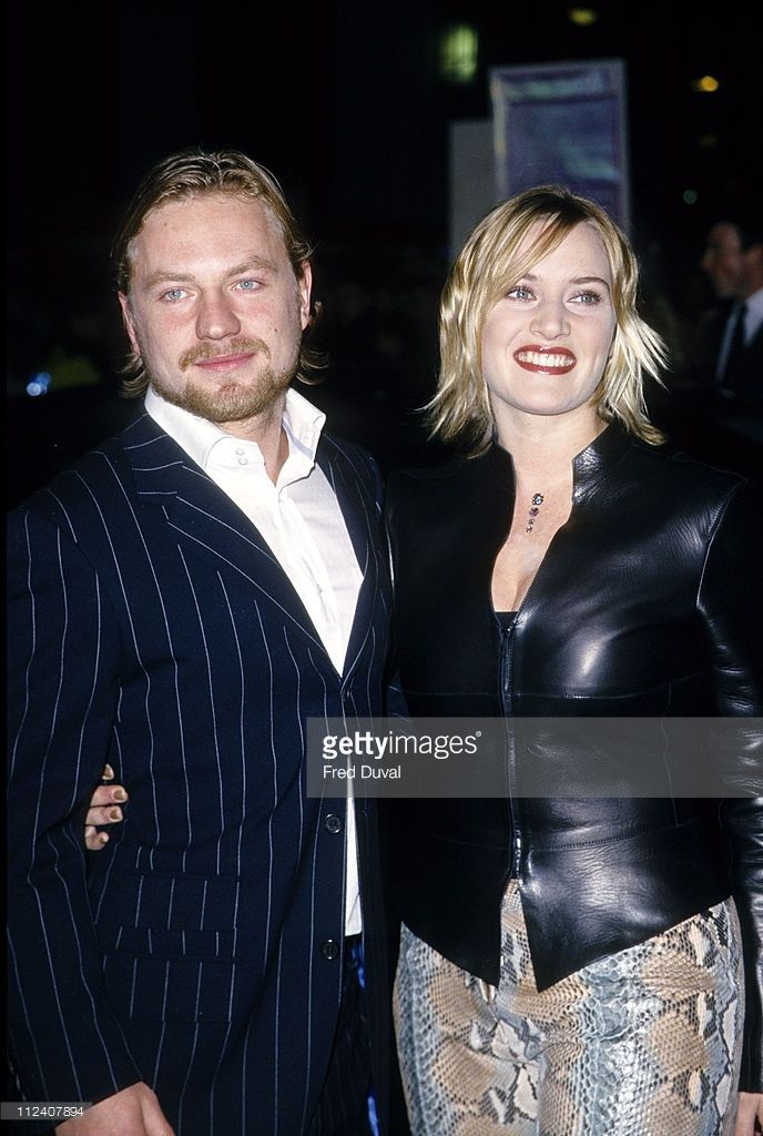 Kate Winslet and Jim Threapleton during 'Holy Smoke' - London Premiere - Arrivals at Leicester Square in London, Great Britain.