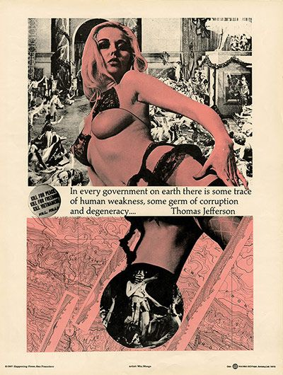 Credit: Punk: An Aesthetic, edited by Johan Kugelberg and Jon Savage, Rizzoli 2012 Berkeley Situationist poster by WM Weege, circa 1967