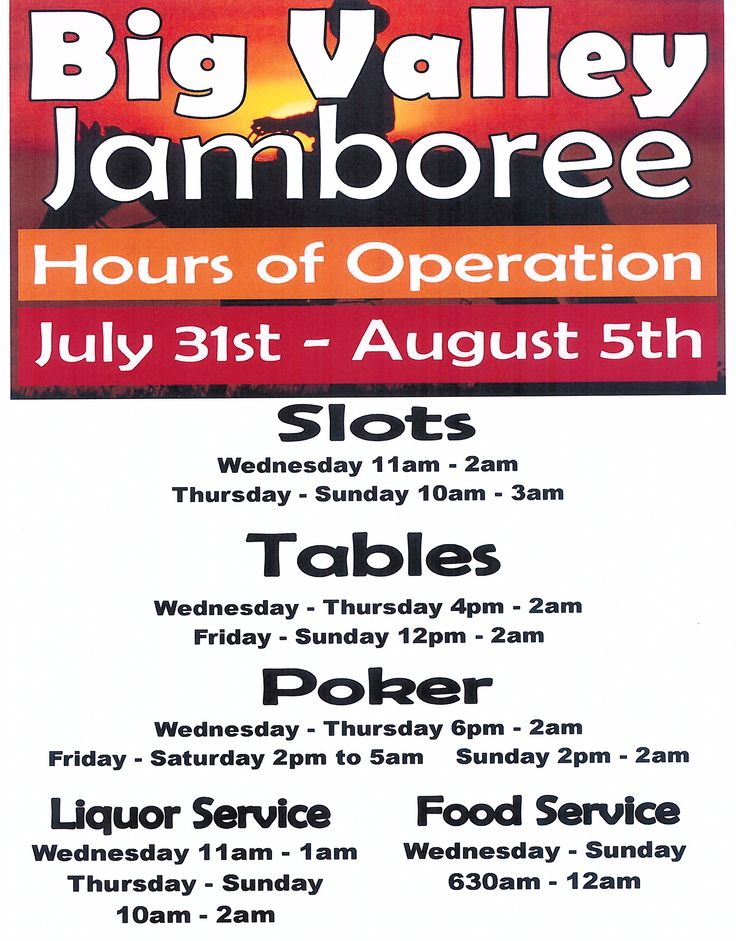 BVJ Casino Hours