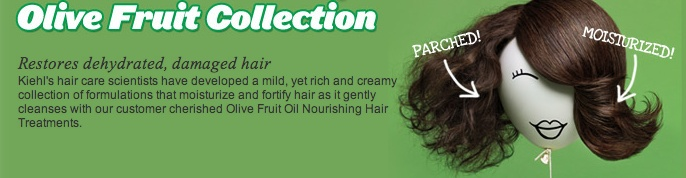Olive Fruit Collection restores dehydrated, damaged hair