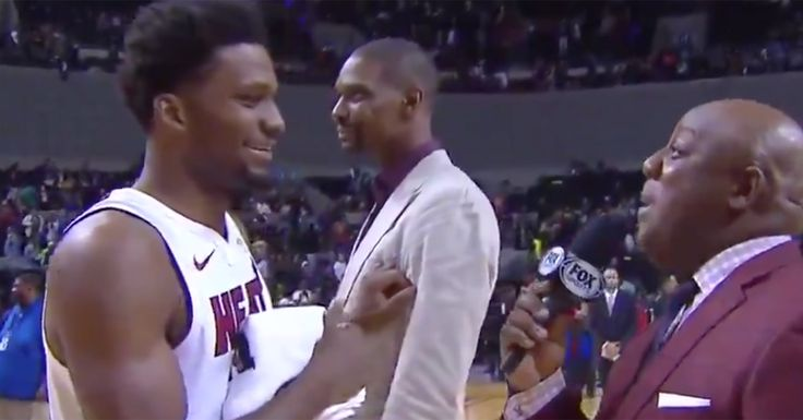 Chris Bosh Videobooms Justise Winslow's Post-Game Interview