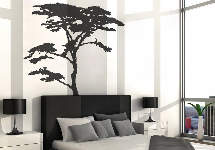 Vinyl Art Decal Realistic African Tree Wall Sticker By DecalIsland