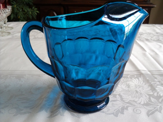 Viking Glass Georgian Bluenique Pitcher By GigisGlassware On Etsy, $45.00 |  For The Home | Pinterest | Viking Glass, Vikings And Georgian