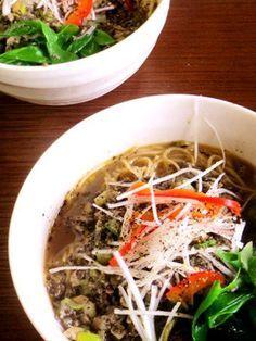 精進料理で!黒ごま坦々麺 ***葉食のために、鶏がらスープは、ヴィーガンのマッセル ストックパウダー チキンスタイルに変更をしてください