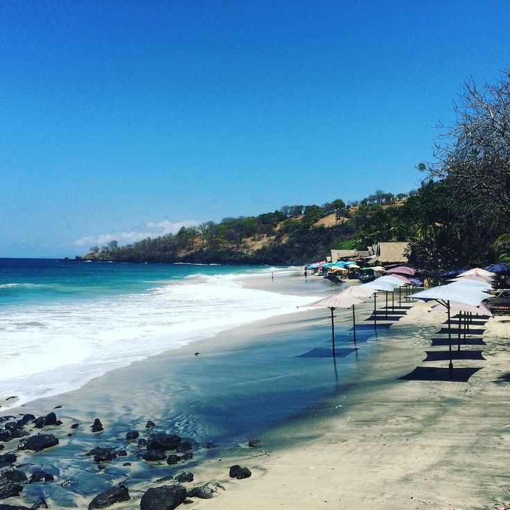 Pasir Putih or Virgin Beach at Persari near Candidasa East Bali. A very pretty beach with several beach warung. It was high tide when I was there but I can imagine spending the whole morning there & just enjoying that gorgeous view.