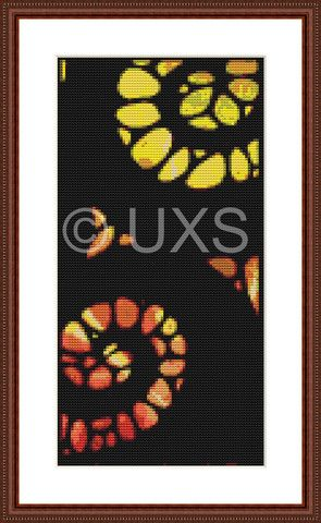 Modern counted cross stitch Abstract Triptych – Unconventional X Stitch