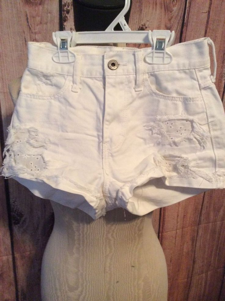 Abercrombie Kids Girls Size 12 Shorts, White, Distressed, EXCELLENT CONDITION  | eBay