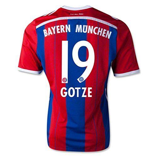 Adidas GOTZE #19 Bayern Munich Official Home Soccer Jersey 2014-15 (XL)