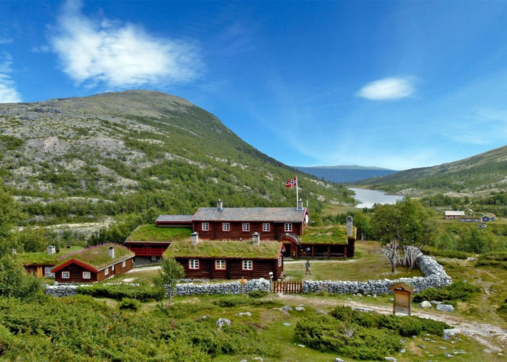 Bjørnhollia tourist lodge. Our cabin is a five minute walk from this beautiful place