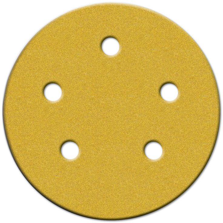 """Norton 49165 5"""" 220 Grit Very Fine Hook & Loop Sanding Discs 4-count"""
