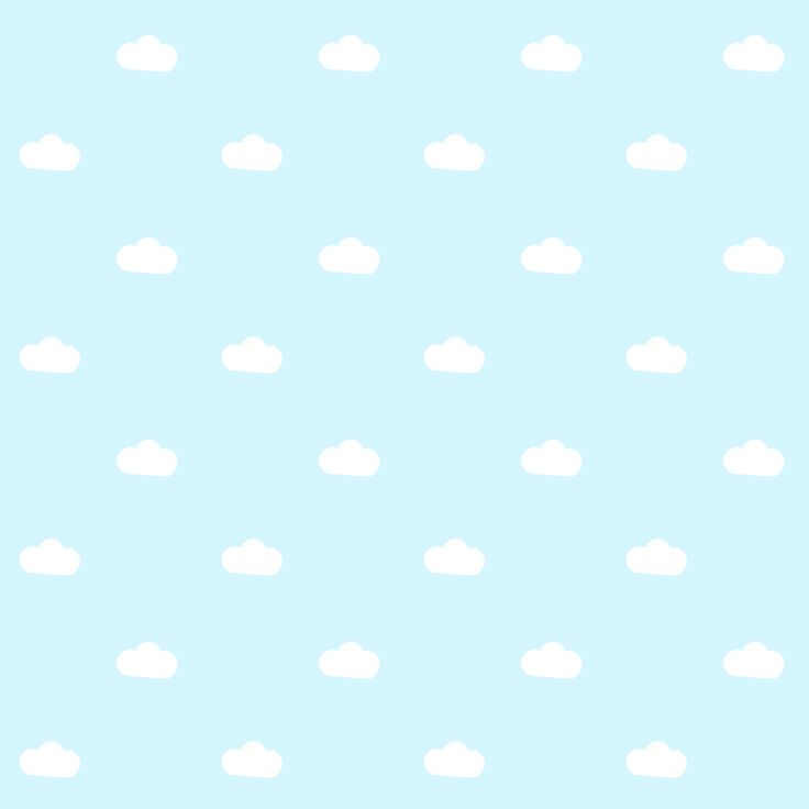 FREE printable baby blue and white pattern paper : happy sky with fluffy clouds