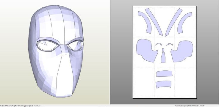 17 best images about pepakura pdo files on pinterest all for Cyclops mask template