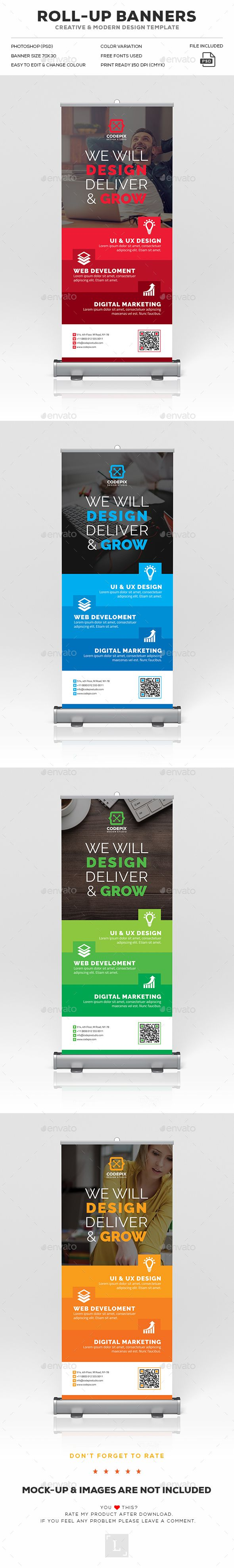 Corporate Roll-Up Banner Template PSD. Download here: https://graphicriver.net/item/corporate-rollup-banner/17473866?ref=ksioks